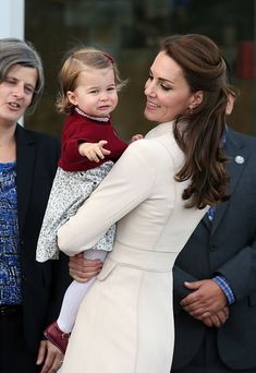 Catherine, Duchess of Cambridge and Princess Charlotte leave from Victoria Harbour to board a sea-plane on the final day of their Royal Tour of Canada on October 1, 2016 in Victoria, Canada.