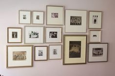Metallic frames but on a gray wall instead: