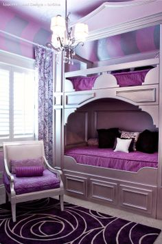 LaWanna Wood Designs - Purple bunk beds