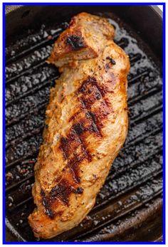 easy pork tenderloin recipes grill-#easy #pork #tenderloin #recipes #grill Please Click Link To Find More Reference,,, ENJOY!! Easy Pork Tenderloin Recipes, Pork Tenderloin Marinade, Lentil Recipes Indian, Steak Stirfry Recipes, Summer Grilling Recipes, Grilled Pork, Food Network Recipes, Recipes Dinner, Meat Recipes