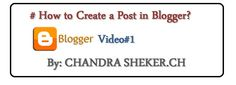 How to Create a Post in Blogger?