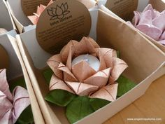 origami lotus lantern party favors