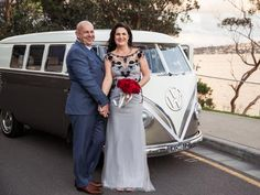 Wedding dress with a difference: Bride opts not to wear white at her wedding. Instead wearing a ready-to-wear gown from Smik, Rouse Hill #bride #groom #weddings