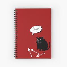 -  120 pages.   -  Cover 350gsm, paper stock 90gsm.   -  Front cover print designed by Bits of Everywhere.    -  Available in a selection of ruled or graph pages.   -  Handy document pocket inside the back cover .   . . #journal  #notebook  #spiralnotebook  #book  #writingbook  #diary  #bitsofeverywhere  #blackcat  #cat  #burpingcat