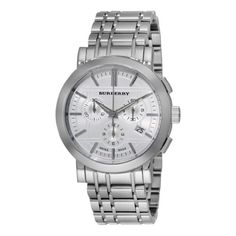 Burberry BU1372  Men's Chronograph Stainless Steel Bracelet   Watch