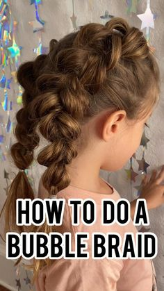 If you arent good at braiding your daughters hair then this hack is for you. This bubble braid is a super easy hair style for girls