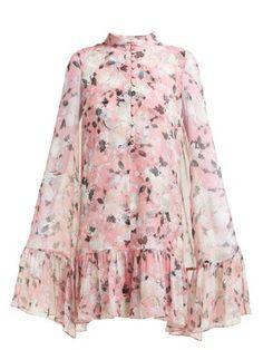 Beautiful Erdem Constantine floral-print silk-chiffon cape dress Womens Dresses from top store Silk Crepe, Silk Chiffon, Chiffon Dresses With Sleeves, Buy Wedding Dress, Cape Dress, Erdem, Designer Dresses, Evening Dresses, Prom Dresses