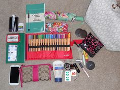 what's in my bag- i made this post on flickr so long ago its so funny that I find it in pinterest