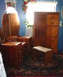 Art Deco Vanity and Wardrobe with built in desk...