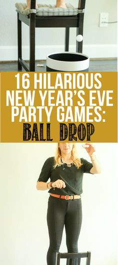 16 awesome New Years Eve party games that work for adults, for teens, for kids, or really anyone else who plays games! Children and entire families will love these fun minute to win it style ideas to play all night long! #14 looks hilarious!