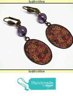 Boucles d'oreilles rétro cabochon sakura résine fleur japon rouge mauve kaki résine laiton bronze perles 18 x 25mm https://www.amazon.fr/dp/B075SMHPGY/ref=hnd_sw_r_pi_dp_H5TWzbYNZRD8V #handmadeatamazon