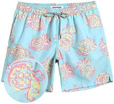 9399d2dc85 Buy MaaMgic Mens Boys Short Swim Trunks Bright Colored Swim Suits Shorts  Bathing Suits Vacation online