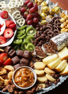 Wow your guests with this easy Dessert Charcuterie Board & Chocolate Salami recipe. The perfect dessert for your next party and especially the holidays! Salami Recipes, Charcuterie Recipes, Charcuterie Platter, Charcuterie And Cheese Board, Appetizer Recipes, Dessert Recipes, Desserts, Cheese Boards, Party Food Platters