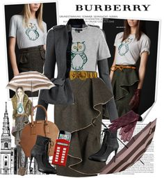 """Burberry Festive Wear"" by houseofhauteness ❤ liked on Polyvore"