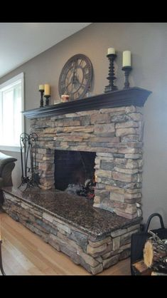 We could use the granite from the kitchen for the hearth top.