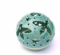 Candle Holder Flying Bees Handmade Pottery by blueroompottery, $36.00