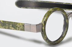 """""""Eyewear"""" di Budri: montature per occhiali in pietra naturale"""