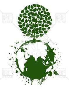 Green tree on a planet, Earth Day - environment protection concept, 80946, download royalty-free vector clipart (EPS) Free Vector Clipart, Clipart Design, Earth Day, Planet Earth, Space Illustration, Environmental Art, Green Trees, Planets, Royalty