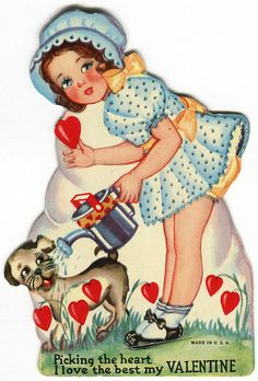 vintage valentine: picking the heart by karen horton, via Flickr
