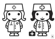 Zuster kleurplaat nurse couloring picuture ziek zijn