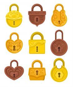 Antique Keys, Vintage Keys, Pattern Design Drawing, Golden Key, Cartoon Sketches, Wooden Chest, Gold Coins, Vintage Colors, Designs To Draw