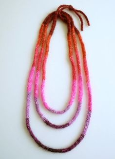 i-cord necklace.