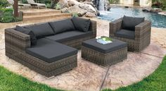 Nailing Next Outdoor Furniture Design with Cement Patio Deck and L ...