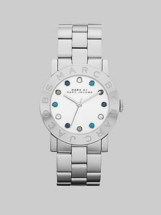 3070861a05cae Marc Jacobs - Multicolored Stone Accented Stainless Steel Watch 36MM