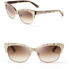 """kate spade new york Shira Cat Eye Sunglasses"" found on Polyvore"