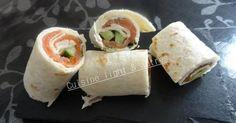Recette de Wrap au saumon et au concombre par Cuisine light & autres. Facile et rapide à réaliser, goûteuse et diététique.