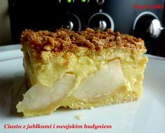Pasje Jolki : Ekstra ciasto z jabłkami z swojskim budyniem i ubitą pianą