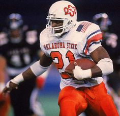 Memorable sports moment of the week – Barry Sanders wins the Heisman Trophy to cap the greatest individual season in college football history Oklahoma State Football, College Football Players, Oklahoma State University, Football And Basketball, College Basketball, Football Helmets, Football University, Football Quotes, Football Stuff