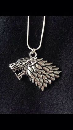 #Stark wolf #pendant #necklace (game of thrones),  View more on the LINK: 	http://www.zeppy.io/product/gb/2/262216032005/