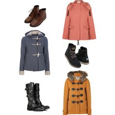 """""""winter combos"""" by idmarryjenny on Polyvore -- usually like to keep everything under fifty dollars, but these are really just for fun."""