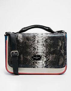 www.artofthedart - Pauls Boutique Nicole Satchel in Snake & White