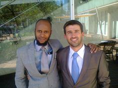 Siyabonga Sithole with Ettiene Pritorius at The JT Foxx Property seminar.