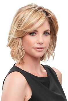 Disguise beginning to mid stage hair loss with the Essentially You Topper Hairpiece by Jon Renau Wigs! The mono base lets it blend easily with existing hair. Choppy Bob Hairstyles, Bob Hairstyles For Fine Hair, Easy Hairstyles, Teenage Hairstyles, Short To Medium Hairstyles, Layered Hairstyle, Hairstyles 2016, Pixie Haircuts, Beautiful Hairstyles