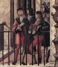 very league Venice, The Republic of Venice  Vittore Carpaccio, c1496: Arrival of the English Ambassadors (Detail 1)