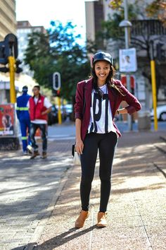The finest Joburg street style - South African Fashion.