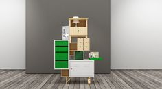 Teste di Legno, Elia Maurizi & Francesco Pepa. Storage made from different IKEA products.