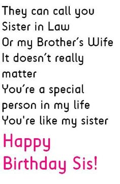 New Quotes Birthday Sister Thoughts Ideas Birthday Messages For Sister, Message For Sister, Sister In Law Birthday, Birthday Quotes For Him, Love My Sister, Birthday Wishes, Birthday Cards, Birthday Images, Birthday Parties