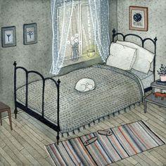 bedroom print by ybryksenkova on Etsy, $15.00
