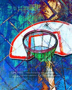 Looking for some unique basketball art? This basketball artwork is a photo print. The size of this wall art is available in different sizes. Basketball decor by Takumi Park. $15.88 and up.