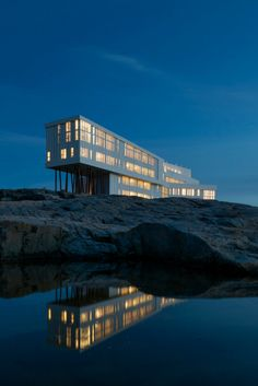 The Fogo Island Inn in Newfoundland, Canada. Beautiful Places To Visit, Places To See, Fogo Island Inn, Newfoundland And Labrador, Newfoundland Canada, Sharm El Sheikh, Island Tour, Canada Travel, Hotels And Resorts