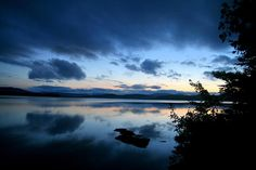 Lake Umbagog Sunset Blues: This photo was taken just after Sunset from a remote campsite on Lake Umbagog in Maine (Lake Umbagog National Wildlife Refuge) in July 2013. The majority of Lake Umbagog is located in the state of New Hampshire.