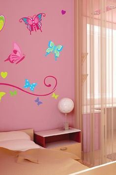 Butterflies Removable Wall Decal Set