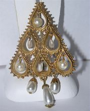 Florenza Dangling Pearl Christmas Tree Pin ~ Book Piece...new to my shop!