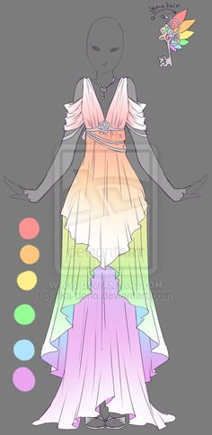 Rainbow Angel - Outfit Design by rika-dono.deviantart.com on @DeviantArt