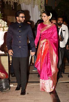 Deepika Padukone Saree Looks - Deepika's Latest Sarees 2019 Style Deepika Padukone, Deepika Padukone Lehenga, Sabyasachi Sarees, Deepika Ranveer, Banarsi Saree, Kanjivaram Sarees, Indian Wedding Outfits, Indian Outfits, Saree For Wedding