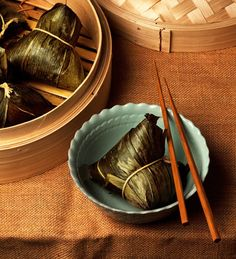 Fuchsia Dunlop's favourite Chinese breakfast, a lotus leaf parcel enclosing a delicious mixture of chicken, mushrooms and sticky rice